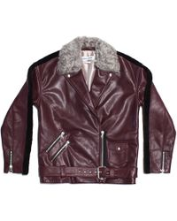 Sandy Liang Bowery Leather Jacket - Lyst
