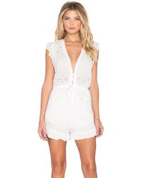 Spell & The Gypsy Collective - Isla Bonita Embroidered Romper - Lyst
