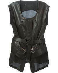 Haider Ackermann Leather Waistcoat - Lyst