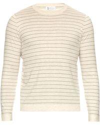 Brunello Cucinelli | Striped Cotton-knit Sweater | Lyst