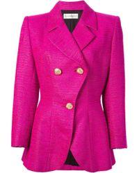 Yves Saint Laurent Vintage Fitted Blazer Jacket - Lyst