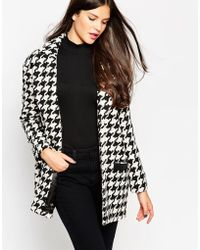 Girls On Film - Houndstooth Coat - Lyst