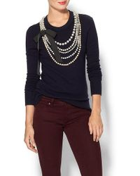 Kate Spade Maxine Peral Sweater - Lyst