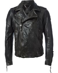 HTC Hollywood Trading Company - Leather Biker Jacket - Lyst