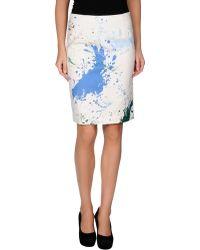 Tibi Knee Length Skirt - Lyst