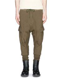 NLST Contoured Seam Rib Cuff Cargo Pants green - Lyst
