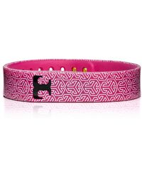 Tory Burch - For Fitbit Silicone Printed Bracelet - Lyst