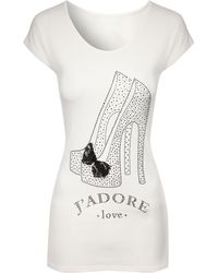 Jane Norman Embellished Shoe Tshirt - Lyst
