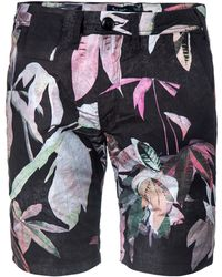 Paul Smith Tropical Print Shorts black - Lyst