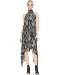 Gareth Pugh Sleeveless Dress - Black/White - Lyst