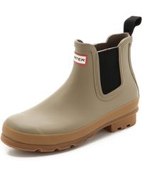 Hunter Original Two Tone Chelsea Boots - Lyst