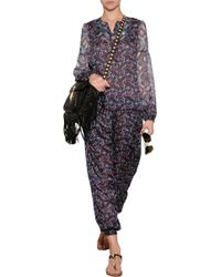 Anna Sui Mixed Print Tunic Top - Lyst