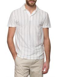 Gant Rugger   White Pinstripe Polo Shirt   Lyst