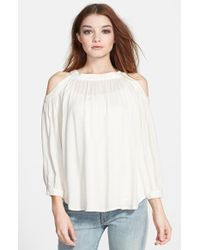 Ella Moss Women'S 'Stella' Cold Shoulder Top - Lyst