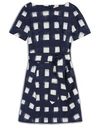 Tory Burch Stretch Poplin Tie Dress - Lyst
