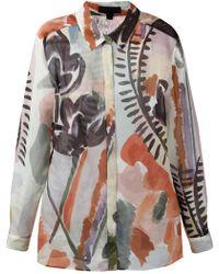 Burberry Prorsum Painterly Print Shirt - Lyst