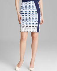 Rachel Roy - Geometric Ikat Print Skirt - Lyst