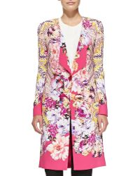 Etro One-button Paisley  Floral Cardigan - Lyst