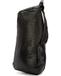 Julius - Black Nubuck Leather Pyramidal Backpack - Lyst