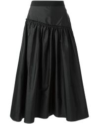 Chloé Flared Asymmetric Skirt - Lyst