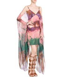 Emilio Pucci Tie-Dye Silk Chiffon Dress - Lyst