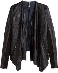 H&M Draped Jacket - Lyst