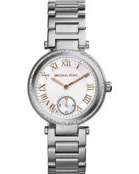 Michael Kors Skylar Crystalembellished Watch White - Lyst