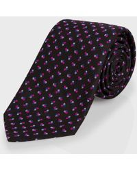 Paul Smith Black 'Mini Floral' Classic Silk Tie - Lyst