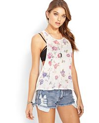 Forever 21 Fall For Floral Tank - Lyst