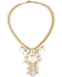House of Lavande | Nihiwatu Mother-of-pearl & Crystal Fish Spine Bib Necklace | Lyst