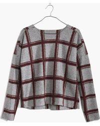 Madewell Plaid Touchtone Sweatshirt - Lyst