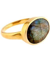 Pippa Small - Labradorite & Yellow-Gold Ring - Lyst
