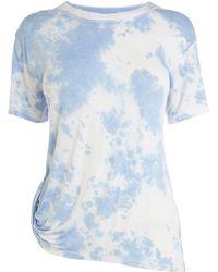Karen Millen Tie Dye Tshirt blue - Lyst