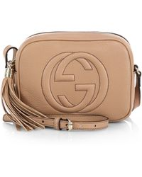Gucci Soho Leather Disco Bag pink - Lyst