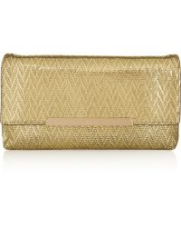Christian Louboutin | Rougissime Metallic Coated Suede Clutch | Lyst