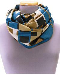 Hermes Hermãs Blue Foulard Infinity Scarf - Lyst