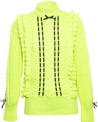 Christopher Kane Cashmere Jumper with Ribbon Detail - Lyst