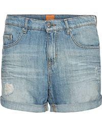 BOSS Orange - Boyfriend Shorts With Vintage Effects: 'orange J70 Phoenix' - Lyst