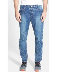 Cheap Monday Men'S 'Dropped' Slouchy Slim Fit Jeans - Lyst