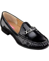 Isaac Mizrahi New York Diana Patent Leather Loafers - Lyst