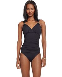 Pink Pony - Ruched Surplice One-piece - Lyst