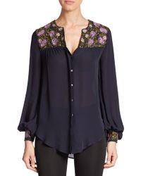 Haute Hippie | Silk Button-down Shirt | Lyst