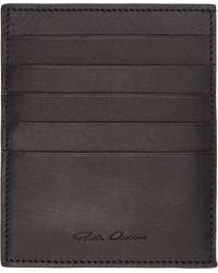 Rick Owens Black Leather Toadskin Paneled Card Holder - Lyst