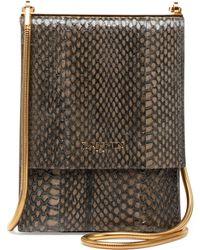 Lanvin Snakeskin Mini Crossbody Bag - Lyst