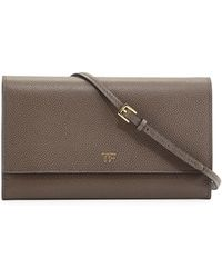 Tom Ford Leather Wallet-on-chain - Lyst