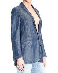 Gucci Blue Jackets Woman - Lyst
