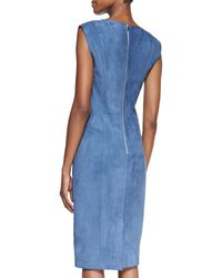 Jason Wu Suede Vneck Sheath Dress - Lyst