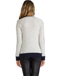 19 4t - Skinny Panel Crew Pullover In Navy - Lyst
