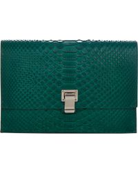 Proenza Schouler Python Small Lunch Bag - Lyst
