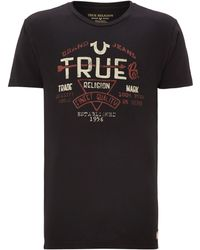 True Religion Crew Neck Arrow True Print T-Shirt - Lyst